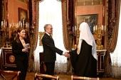 Встреча Святейшего Патриарха Кирилла с послом Германии в России