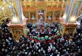 В Неделю 2-ю по Пасхе Предстоятель Русской Церкви совершил Литургию во Введенской церкви на Рязанском проспекте в Москве