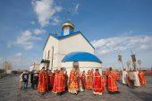 На месте Акмолинского лагеря жен изменников Родины (АЛЖИР) в Казахстане освящен храм во имя новомучеников Акмолинских