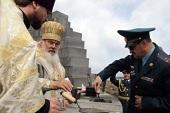 На острове Русском началось строительство нового храма