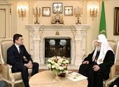 Святейший Патриарх Кирилл встретился с министром энергетики РФ А.В. Новаком