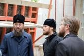Церковная делегация из Украины посетила участок строительства храма Всех святых в Страсбурге