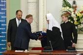 Святейший Патриарх Кирилл стал почетным доктором Дипломатической академии МИД России