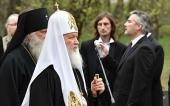 Святейший Патриарх Кирилл принял участие в церемонии перезахоронения великого князя Николая Николаевича и его супруги