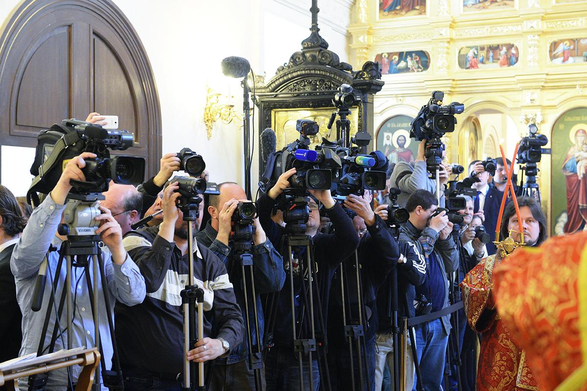 Патриаршее служение в храме Преображения Господня на Преображенской площади г. Москвы