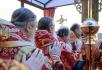 Патриаршее служение в Высоцком монастыре г. Серпухова. Хиротония архимандрита Пармена (Щипелева) во епископа Чистопольского. Крестный ход с чудотворной иконой Божией Матери «Неупиваемая Чаша»