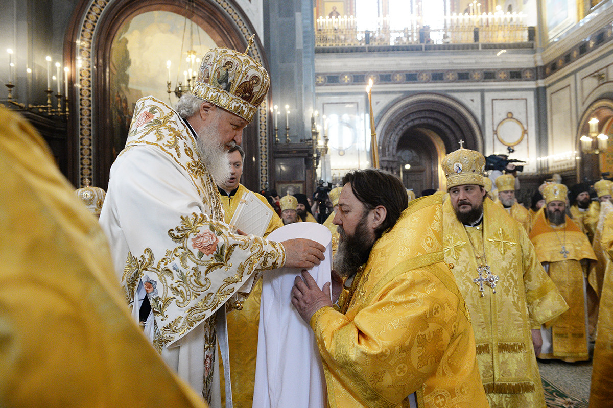 Патриаршее служение в день памяти святых равноапостольных Мефодия и Кирилла в Храме Христа Спасителя