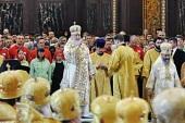 В день памяти святых равноапостольных Мефодия и Кирилла Предстоятель Русской Церкви совершил Литургию в Храме Христа Спасителя в Москве