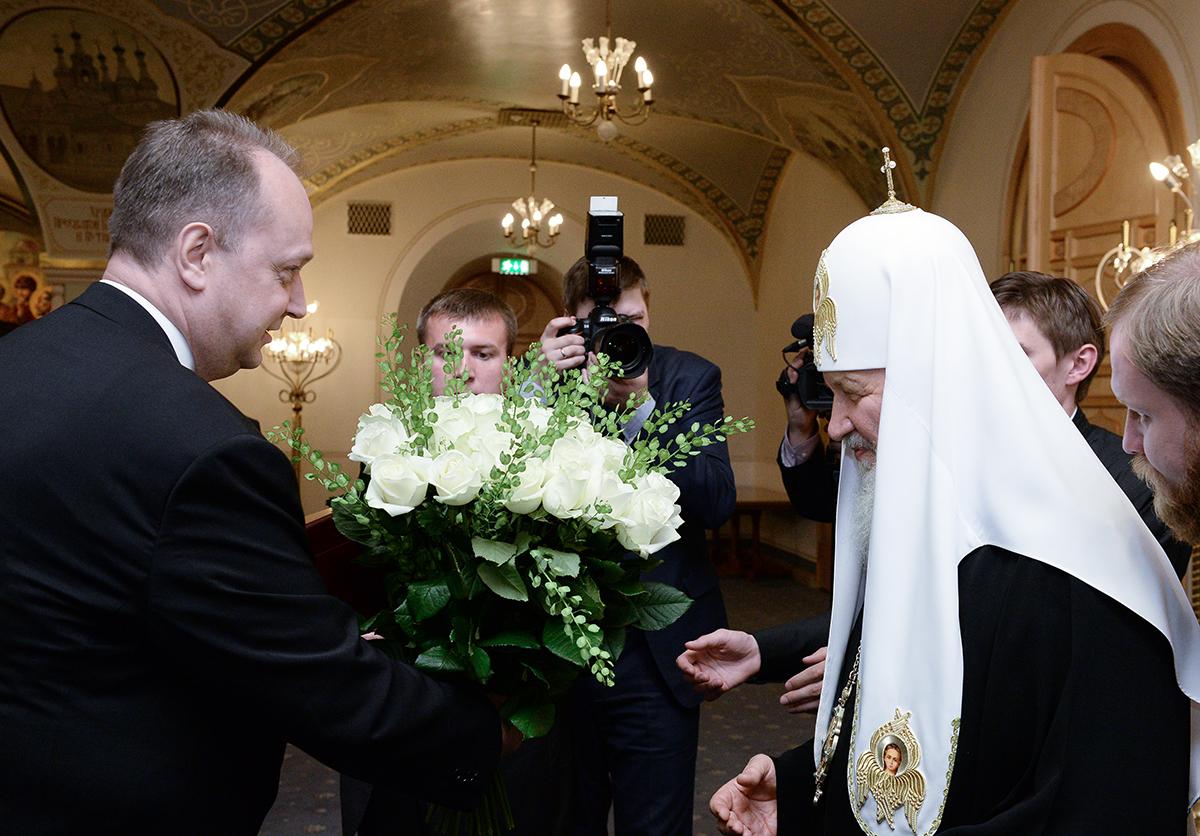 Прием в Храме Христа Спасителя по случаю тезоименитства Святейшего Патриарха Кирилла