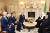 Встреча Святейшего Патриарха Кирилла с главой Республики Северная Осетия-Алания Т.Д. Мамсуровым и архиепископом Владикавказским и Аланским Зосимой