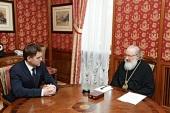 Святейший Патриарх Кирилл встретился с послом Республики Беларусь в Российской Федерации И.В. Петришенко