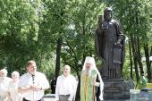 В Вятской епархии открыт памятник преподобному Трифону Вятскому