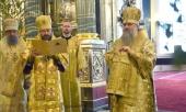 В день своего 60-летия митрополит Санкт-Петербургский и Ладожский Варсонофий совершил Литургию в Казанском соборе северной столицы
