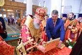 Верующие Брянской митрополии поклонились деснице святого великомученика Георгия Победоносца