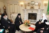 Святейший Патриарх Кирилл принял делегацию Иерусалимского Патриархата