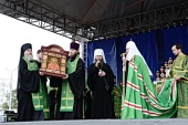 Слово Святейшего Патриарха Кирилла после всенощного бдения на площади перед Михаило-Архангельским собором в Архангельске