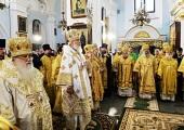 Святейший Патриарх Кирилл совершил богослужение в минском Свято-Духовом кафедральном соборе