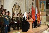 Святейший Патриарх Кирилл встретился с участниками парадов на Красной площади 7 ноября 1941 г., 24 июня 1945 г. и 9 мая 2015 г.