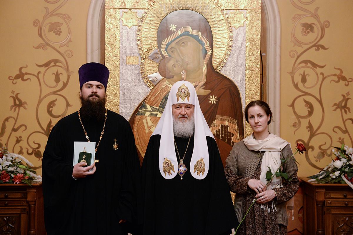Награждение клириков г. Москвы, отмечающих в этом году памятные даты