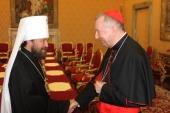 Митрополит Волоколамский Иларион встретился с государственным секретарем Ватикана и председателями Папских советов по делам семьи и по содействию христианскому единству