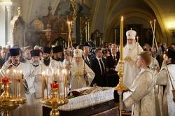 Святейший Патриарх Кирилл совершил отпевание Е.М. Примакова