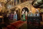 В день памяти святителя Ионы Московского Предстоятель Русской Церкви совершил Литургию в Успенском соборе Московского Кремля