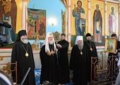 Святейший Патриарх Кирилл посетил Спасо-Преображенский кафедральный собор г. Тихвина