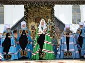 Проповедь Святейшего Патриарха Кирилла после Литургии в Тихвинском Успенском монастыре
