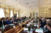 Святейший Патриарх Кирилл возглавил заседание Попечительского совета по восстановлению Иосифо-Волоцкого монастыря