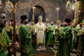 В канун дня памяти преподобного Сергия Радонежского Предстоятель Русской Церкви совершил всенощное бдение в Троице-Сергиевой лавре