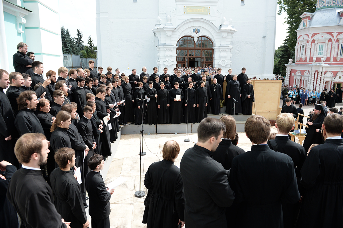 Патриаршее служение в Троице-Сергиевой лавре. Божественная литургия