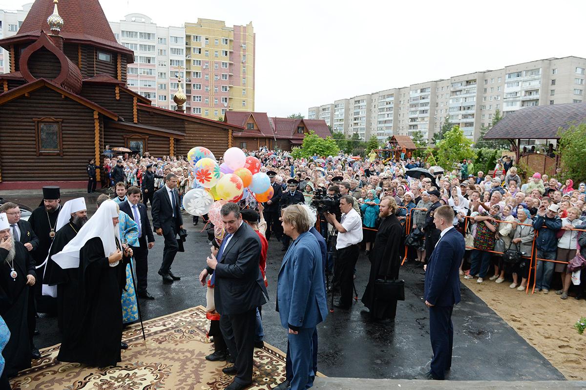Патриарший визит в Ивановскую митрополию. Освящение Покровского храма в новом микрорайоне г. Иваново