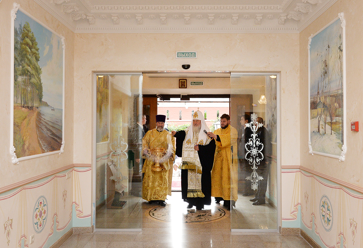 Освящение паломнической гостиницы Покровского женского монастыря г. Москвы