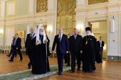 Президент России В.В. Путин в сопровождении Святейшего Патриарха Кирилла осмотрел Московский епархиальный дом