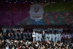Выступление Святейшего Патриарха Кирилла на открытии фестиваля славянского искусства «Русское поле»
