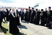 Патриарший визит в Нижегородскую митрополию. Прибытие в Нижний Новгород