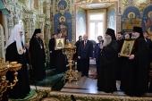 Святейший Патриарх Кирилл посетил Вознесенский Печерский монастырь в Нижнем Новгороде