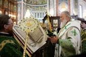 Патриарший визит в Нижегородскую митрополию. Всенощное бдение в Александро-Невском соборе в Нижнем Новгороде
