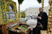 Патриарший визит в Нижегородскую митрополию. Божественная литургия в Серафимо-Дивеевском монастыре в день памяти преподобного Серафима Саровского