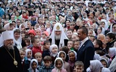 Святейший Патриарх Кирилл посетил Покровско-Татианинский храм г.Чебоксары