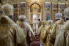 Патриарший визит в Чувашскую митрополию. Литургия в соборе святого равноапостольного князя Владимира в г. Новочебоксарске