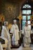 Патриаршее служение в праздник Преображения Господня в храме святых мучеников и страстотерпцев Бориса и Глеба в Дегунине г. Москвы