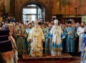 В праздник Успения Пресвятой Богородицы Предстоятели Александрийской и Русской Православных Церквей совершили Литургию в Успенском соборе Московского Кремля
