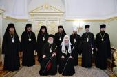Состоялось братское собеседование Святейшего Патриарха Кирилла с Предстоятелем Александрийской Православной Церкви