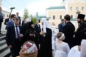 Патриарший визит в Смоленскую митрополию. Посещение Свято-Троицкого монастыря в Смоленске