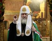 Проповедь Святейшего Патриарха Кирилла после Литургии в праздник Сретения Владимирской иконы Божией Матери в Сретенском монастыре города Москвы