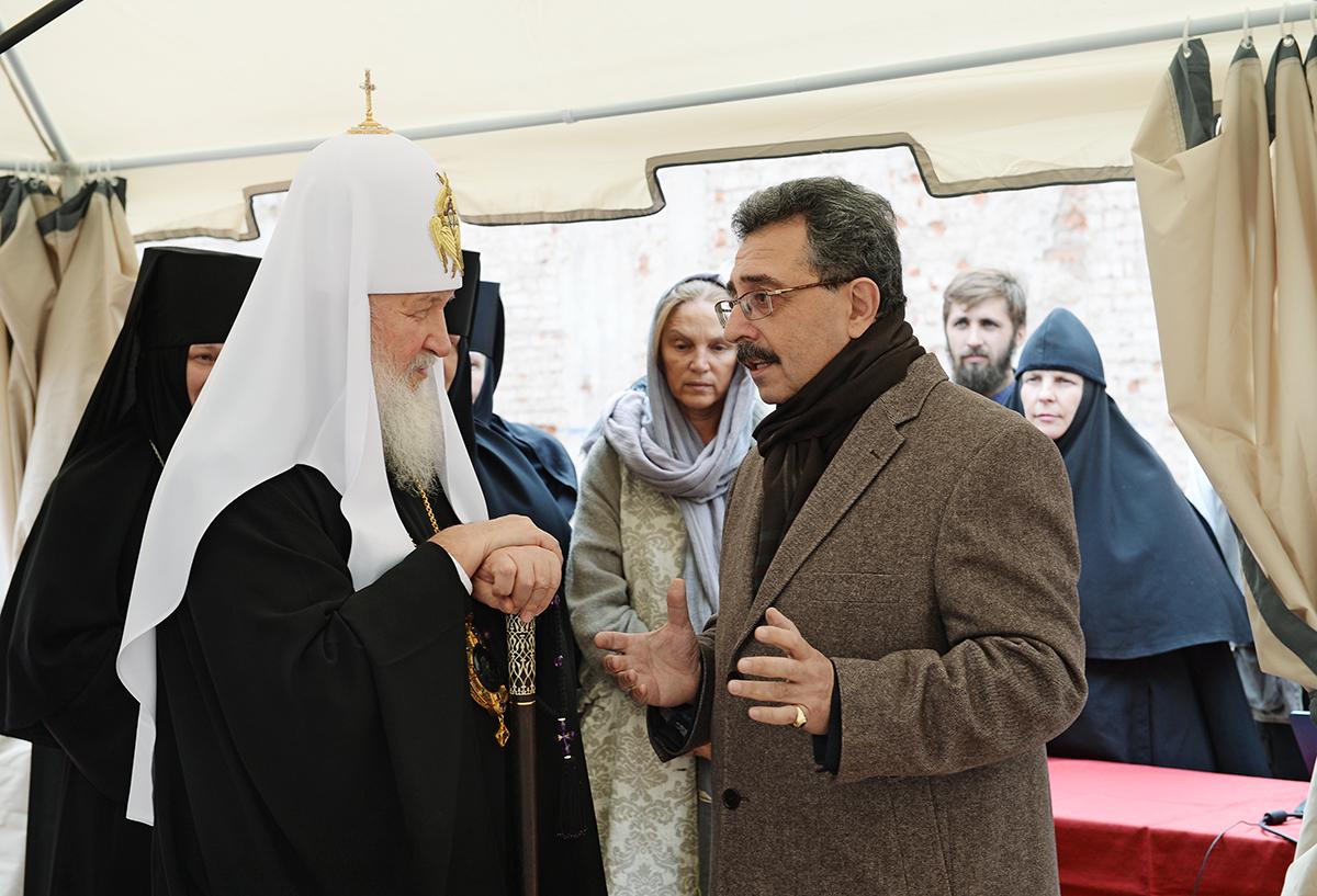Патриаршее служение в день памяти Усекновения главы Иоанна Предтечи в Иоанно-Предтеченском монастыре г. Москвы