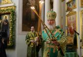 В день памяти святого благоверного князя Даниила Московского Святейший Патриарх Кирилл совершил Литургию в Даниловом монастыре столицы