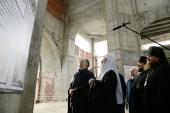 Предстоятель Русской Церкви посетил строящийся Преображенский собор г. Салехарда