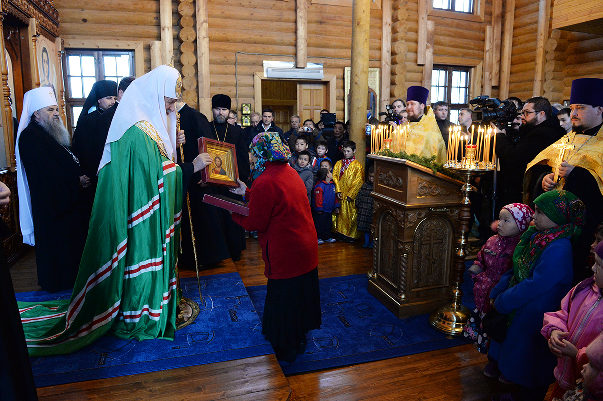 Патриарший визит в Салехардскую епархию. Посещение фактории Лаборовая